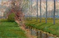 bord de rivière by edouard bernard debat-ponsan