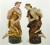 assistenzfiguren (2 works) by christian jorhan the elder