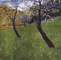an orchard in spring-time by hugo baar