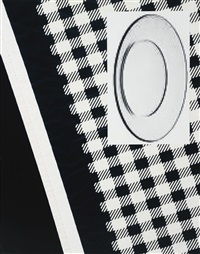 comme des garçons scarf with glass plate by roe ethridge