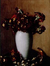 sweet williams in a vase by wilhelm andersen