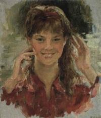 le portrait d'une fille by nadejda noukalo