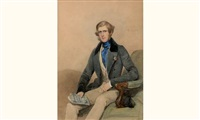 portrait d'un homme (b. ball esq) by frederick cruickshank
