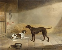 two dogs in an interior by george jackson