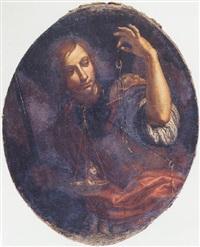 saint michael weighing souls by orazio fidani