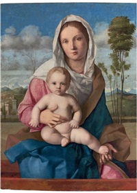 the madonna and child in a landscape by giovanni bellini