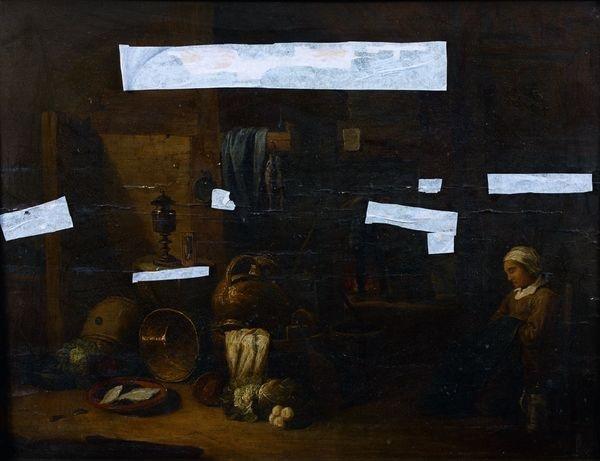 cuisinière assoupie dans un intérieur paysan by david ryckaert iii