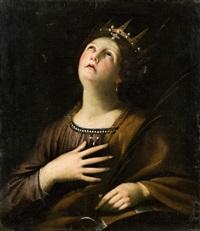 santa caterina d'alessandria by francesco giovanni gessi