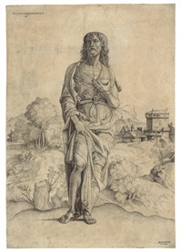 saint john the baptist by giulio campagnola