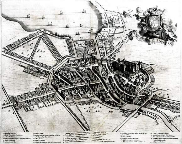 annessium vulgo annessy (from theatrum statuum regiae celestudinis sabaudiae ducis) by johannes de broen