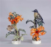 phoebe and flame vine (pair) by dorothy doughty