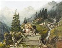 alpaufzug im berner oberland by franz adolf christian müller