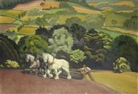 ploughing the fields by anna katrina zinkeisen