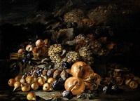 natura morta con uva, melagrane, mele e pere by aniello ascione