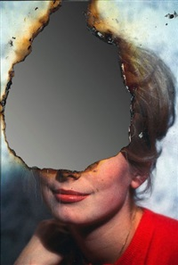 selfportrait of you + me (catherine deneuve), aout by douglas gordon
