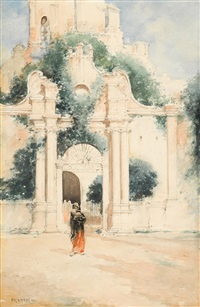 old spanish gateway, mexico by edward percy moran