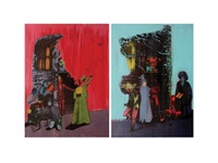 figurative composition (2 works) by gazi sansoy