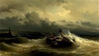 bateau dans la tempête by baron jean antoine théodore gudin