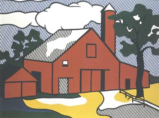 Study for large red barn by Roy Lichtenstein on artnet