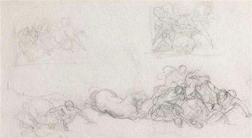 episode de la course des chevaux libres by théodore géricault