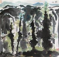 山林 by wu guanzhong