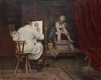le peintre et son modèle by hans hulmer
