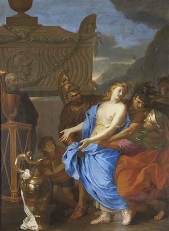 le sacrifice de polyxène by charles le brun