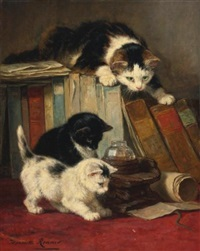 watching the prey by henriette ronner-knip