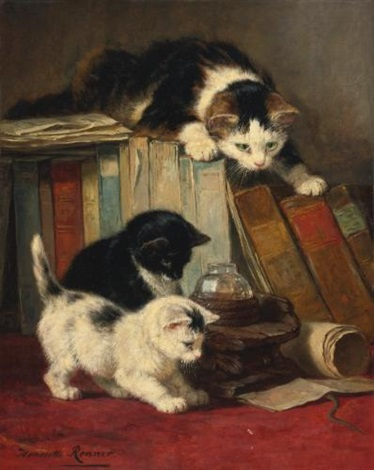 watching the prey by henriette ronner knip