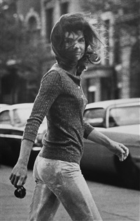 windblown jackie (jackie onassis on madison avenue, new york) by ron galella
