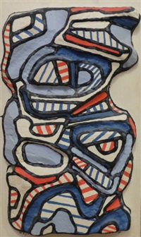 personnage mi-corps by jean dubuffet