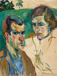porträt eines paares (portrait of a couple) by robert amrein