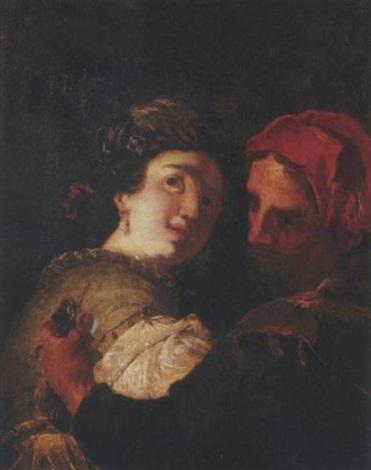 a man stealing a ladys purse by johann liss