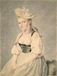 la belle batelière de brientz, elisabeth grossmann by franz niklaus könig