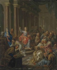 jésus parmi les docteurs by franz christoph janneck