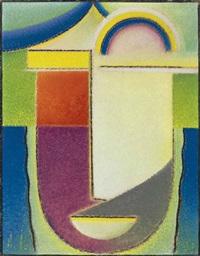 abstrakter kopf: ostern by alexej jawlensky