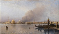view of the venetian lagoon from the public gardens by aleksei petrovich bogolyubov