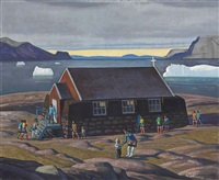 sunday, north greenland by rockwell kent