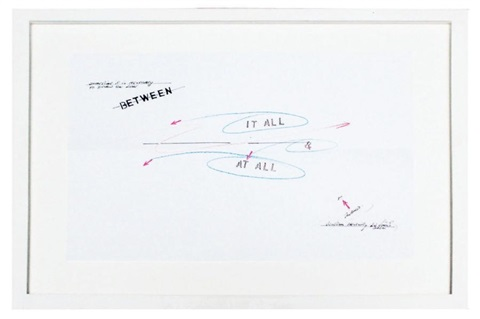 in one end by lawrence weiner