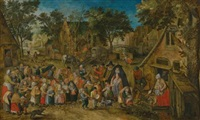 the whitsun bride by pieter brueghel the younger