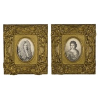portrait of a gentleman (+ portrait of a lady; 2 works) by thomas forster
