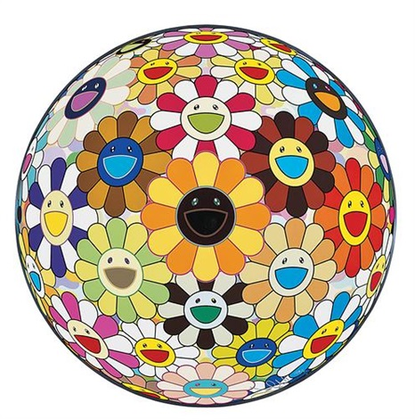 flower ball 3d by takashi murakami