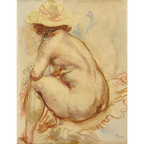 nude by george grosz