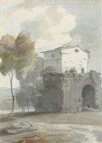 villa adriana, tivoli, italy by francis towne