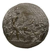 roundel with the beheading of st. paul by alessandro algardi (l'algarde)