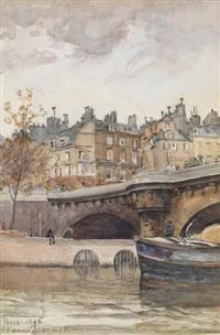 le pont-neuf by etienne-albert-eugène joannon