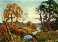 sunny landscape with river by charles dankmeijer
