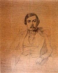 portrait de léon brunel-rocque by eugène emmanuel amaury-duval (pineu)