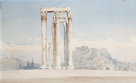 view of the temple of olympian zeus athens another similar pair by angelos giallina