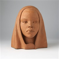 head of an african american woman by william ellsworth artis
